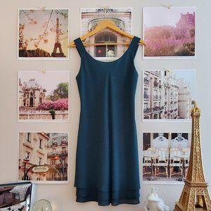 Principles Vintage 90s Green Sleeveless Mini Dress